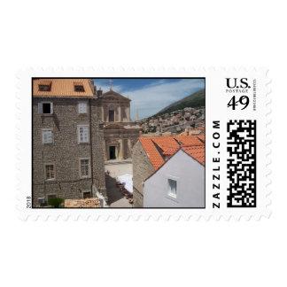 Dubrovnic croatia digital photo postage stamp