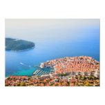 "Dubrovnik Aerial View 5"" X 7"" Invitation Card"