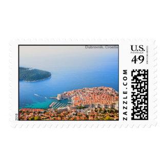 Dubrovnik Aerial View Stamp