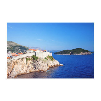 Dubrovnik and Lokrum Island on the Adriatic Sea Canvas Print