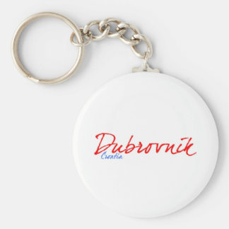 Dubrovnik Basic Round Button Keychain