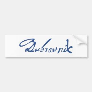 Dubrovnik Car Bumper Sticker