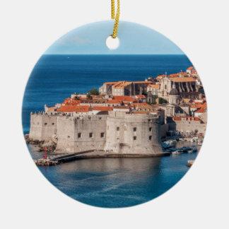 Dubrovnik, Croacia Adorno Navideño Redondo De Cerámica