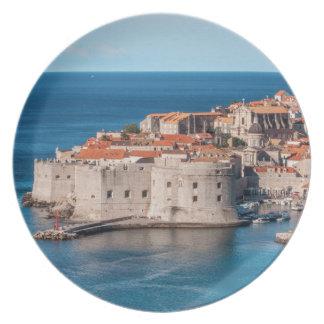 Dubrovnik, Croacia Plato Para Fiesta