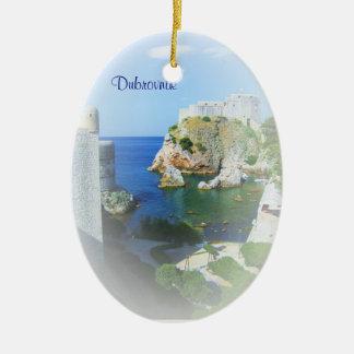 Dubrovnik Croatia Custom Christmas Ornament
