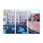 Dubrovnik - Croatia - Old Port 2 Stretched Canvas Print