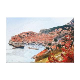Dubrovnik - Croatia - Panorama 4 Canvas Print
