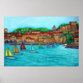 Dubrovnik Regatta Print by Lisa Lorenz