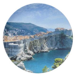 Dubrovnik's Old City Melamine Plate