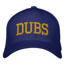 """DUBS"" Baseball Cap - Blue and Gold"