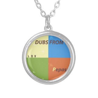 DUBS FROM APPLE ALBUM ROUND PENDANT NECKLACE