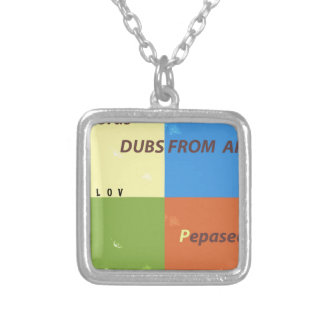 DUBS FROM APPLE ALBUM SQUARE PENDANT NECKLACE