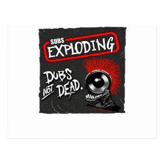 DUBS NOT DEAD Subs Exploding Postcard