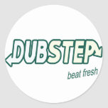 DUBSTEP beat fresh Classic Round Sticker