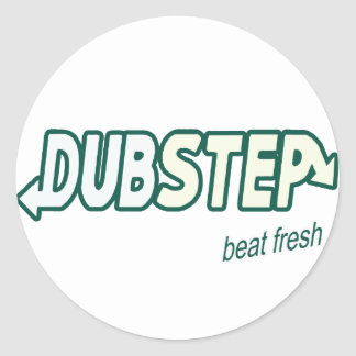 DUBSTEP beat fresh Classic Round Sticker