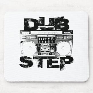 Dubstep Black Boombox Mouse Pad