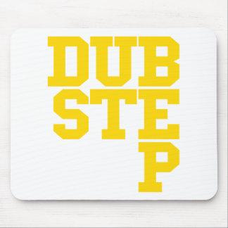 Dubstep Blockletter (Gold) Mouse Pad