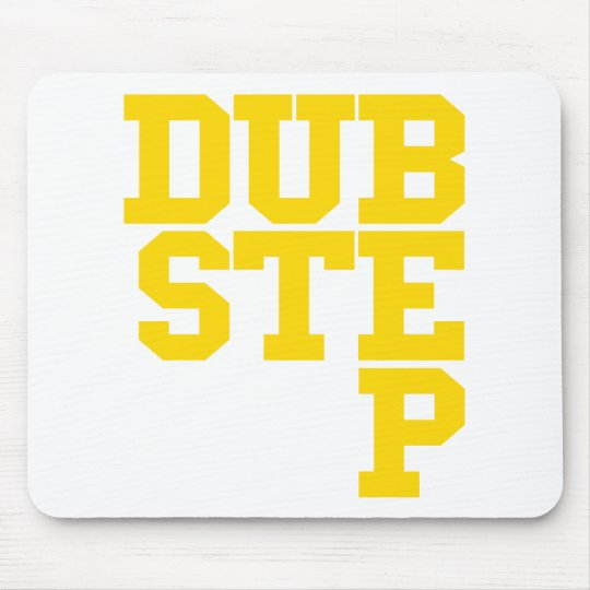 Dubstep Blockletter (Gold) Mouse Pad