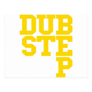 Dubstep Blockletter (Gold) Postcard