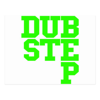 Dubstep Blockletter (Lime) Postcard
