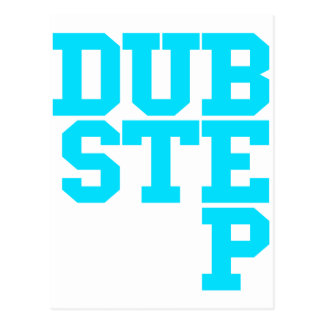 Dubstep Blockletter Postcard