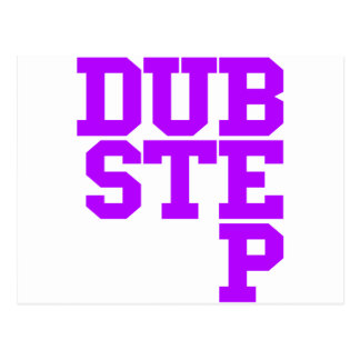 Dubstep Blockletter (Purple) Postcard