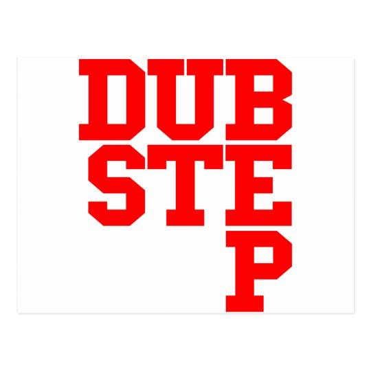 Dubstep Blockletter (Red) Postcard