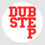 Dubstep Blockletter (rojo) Pegatina Redonda