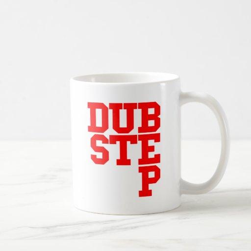 Dubstep Blockletter (rojo) Tazas De Café