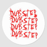 Dubstep Blood Repeat Classic Round Sticker