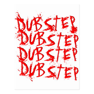 Dubstep Blood Repeat Postcard