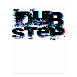 Dubstep Blue and Pink Postcard