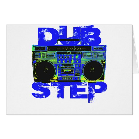 Dubstep Blue Boombox Card