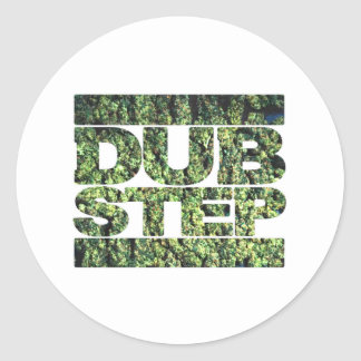 DUBSTEP Buds Dubstep music Round Sticker