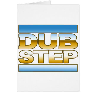 DUBSTEP chrome logo Card
