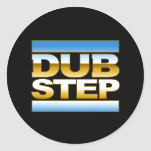 Dubstep logo stickers zazzle dubstep chrome logo classic round sticker thecheapjerseys Images