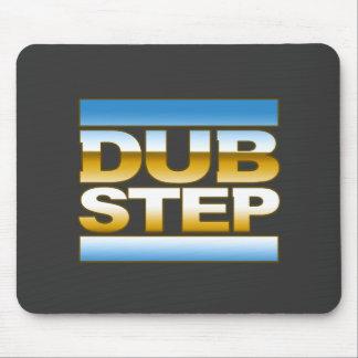 DUBSTEP chrome logo Mousepads