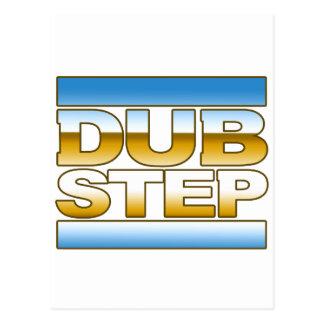DUBSTEP chrome logo Postcard