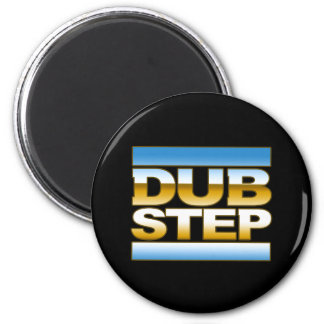 DUBSTEP chrome logo Refrigerator Magnets