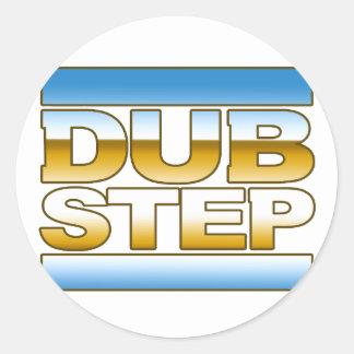 DUBSTEP chrome logo Round Stickers