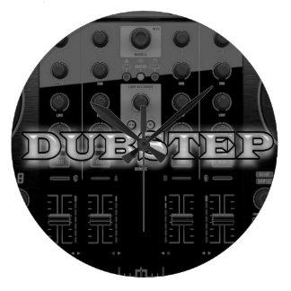 Dubstep clock wall clock