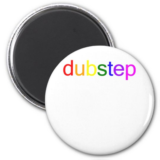Dubstep Color Spectrum 2 Inch Round Magnet