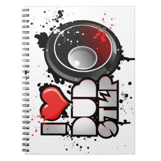 dubstep spiral notebook