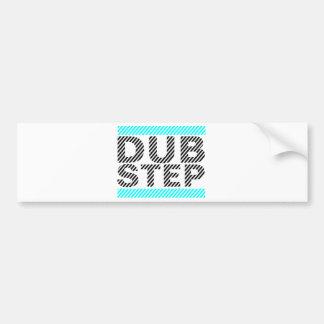 Dubstep Cyan Bumper Sticker