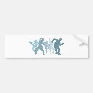 Dubstep Dancers Illustration Bumper Sticker