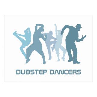 Dubstep Dancers Illustration Postcard