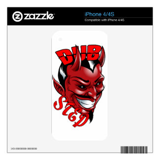 Dubstep Devil Decal For The iPhone 4