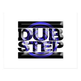 DUBSTEP dub step t shirt blue spin rusko caspa Postcard
