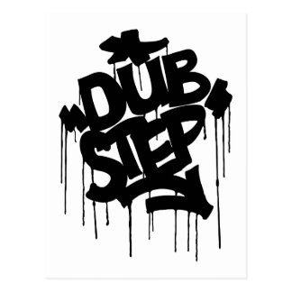 Dubstep FatCap Black Postcard