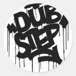 Dubstep FatCap Black Sticker